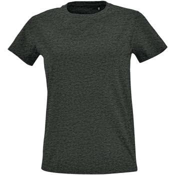 Îmbracaminte Femei Tricouri mânecă scurtă Sols Camiseta IMPERIAL FIT color Antracita Gris