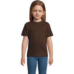 Îmbracaminte Copii Tricouri mânecă scurtă Sols Camista infantil color chocolate Marrón