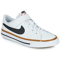 Pantofi Copii Pantofi sport Casual Nike NIKE COURT LEGACY (PSV) Alb / Negru