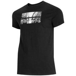 Îmbracaminte Bărbați Tricouri mânecă scurtă 4F TSM025 Negre