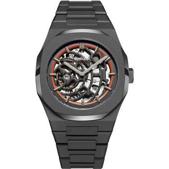 Ceasuri & Bijuterii Bărbați Ceasuri Analogice D1 Milano SKBJ06, Automatic, 42mm, 5ATM Negru