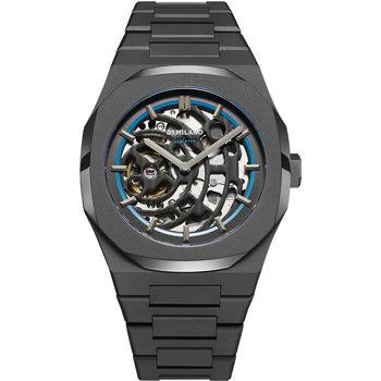 Ceasuri & Bijuterii Bărbați Ceasuri Analogice D1 Milano SKBJ05, Automatic, 42mm, 5ATM Negru
