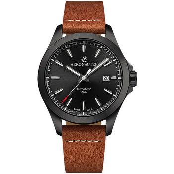 Ceasuri & Bijuterii Bărbați Ceasuri Analogice Aeronautec ANT-44077.11, Automatic, 42mm, 10ATM Negru