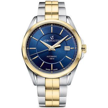 Ceasuri & Bijuterii Bărbați Ceasuri Analogice Aeronautec ANT-44085.07, Automatic, 42mm, 10ATM Auriu
