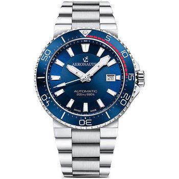 Ceasuri & Bijuterii Bărbați Ceasuri Analogice Aeronautec ANT-44086-02, Automatic, 43mm, 20ATM Argintiu