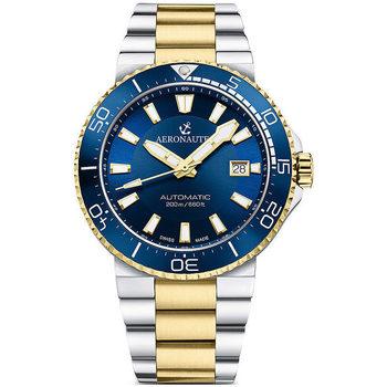 Ceasuri & Bijuterii Bărbați Ceasuri Analogice Aeronautec ANT-44086-03, Automatic, 43mm, 20ATM Auriu