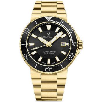 Ceasuri & Bijuterii Bărbați Ceasuri Analogice Aeronautec ANT-44086-05, Automatic, 43mm, 20ATM Auriu
