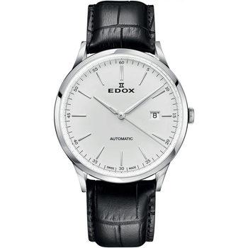 Ceasuri & Bijuterii Bărbați Ceasuri Analogice Edox 80106-3C-AIN, Automatic, 42mm, 5ATM Argintiu