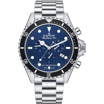 Ceasuri & Bijuterii Bărbați Ceasuri Analogice Edox 10238-3NM-BUI, Quartz, 44mm, 30ATM Argintiu