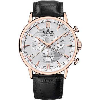 Ceasuri & Bijuterii Bărbați Ceasuri Analogice Edox 10501-37R-AIR, Quartz, 42mm, 3ATM Auriu