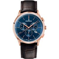 Ceasuri & Bijuterii Bărbați Ceasuri Analogice Edox 10236-37RC-BUIR, Quartz, 42mm, 3ATM Auriu