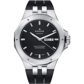 Ceasuri & Bijuterii Bărbați Ceasuri Analogice Edox 88005-3CA-NIN, Automatic, 43mm, 20ATM Argintiu