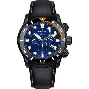 Ceasuri & Bijuterii Bărbați Ceasuri Analogice Edox 10242-TINNO-BUIN, Quartz, 45mm, 100ATM Negru