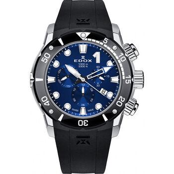 Ceasuri & Bijuterii Bărbați Ceasuri Analogice Edox 10242-TIN-BUIN, Quartz, 45mm, 100ATM Argintiu