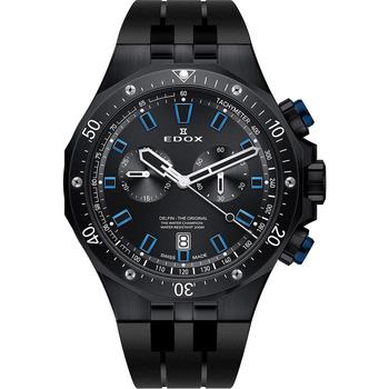Ceasuri & Bijuterii Bărbați Ceasuri Analogice Edox 10109-37NBUCA-NIBU, Quartz, 43mm, 20ATM Negru