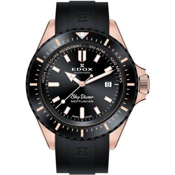 Ceasuri & Bijuterii Bărbați Ceasuri Analogice Edox 80120-37RNNCA-NIR, Automatic, 44mm, 100ATM Auriu