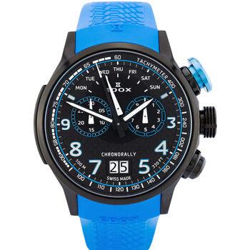 Ceasuri & Bijuterii Bărbați Ceasuri Analogice Edox 38001-TINNBU3-NIBU3, Quartz, 48mm, 10ATM Negru