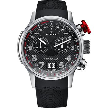Ceasuri & Bijuterii Bărbați Ceasuri Analogice Edox 38001-TIN-NRO3, Quartz, 48mm, 10ATM Argintiu