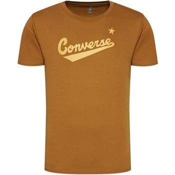 Îmbracaminte Bărbați Tricouri mânecă scurtă Converse Center Front Logo Maro