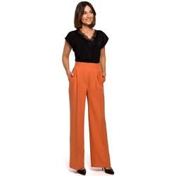 Îmbracaminte Femei Pantaloni fluizi și Pantaloni harem Style S203 Pantaloni Palazzo cu talie elastică - portocaliu