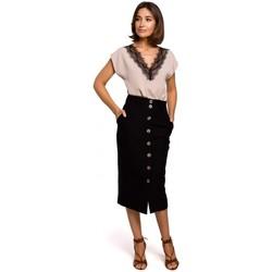 Îmbracaminte Femei Topuri și Bluze Style S206 Top fără mâneci cu decolteu din dantelă - negru