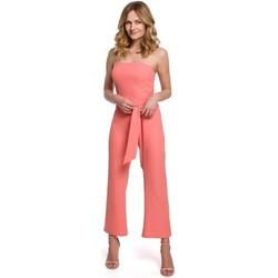 Îmbracaminte Femei Jumpsuit și Salopete Makover K045 Salopeta cu bretele - portocaliu