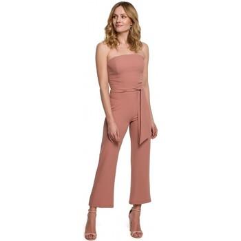 Îmbracaminte Femei Jumpsuit și Salopete Makover K045 Salopeta cu bretele - roz