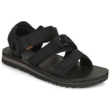 Pantofi Bărbați Sandale  Teva M Cross Strap Trail BLACK Negru