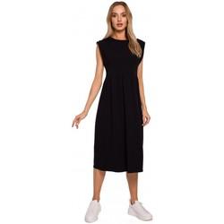Îmbracaminte Femei Rochii lungi Moe M581 Rochie fără mâneci cu talie înaltă - negru