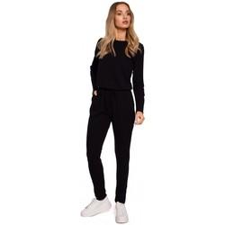 Îmbracaminte Femei Jumpsuit și Salopete Moe M583 Salopeta din tricot cu buzunar - negru