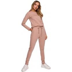 Îmbracaminte Femei Jumpsuit și Salopete Moe M583 Salopeta din tricot cu buzunar - mocca