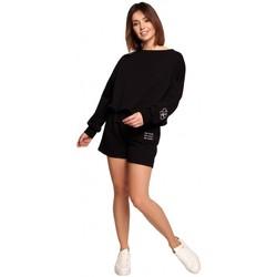 Îmbracaminte Femei Pantaloni scurti și Bermuda Be B186 Pantaloni scurți cu broderie - negru