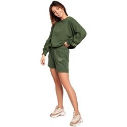 Îmbracaminte Femei Pantaloni scurti și Bermuda Be B186 Pantaloni scurți cu broderie - verde iarbă