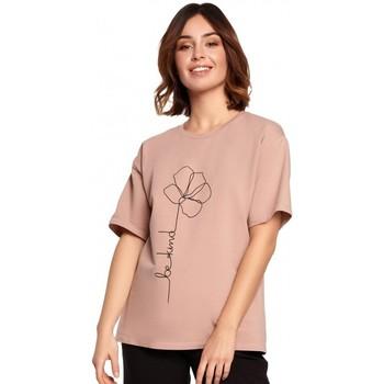 Îmbracaminte Femei Topuri și Bluze Be B187 Tricou cu imprimare de flori - mocca