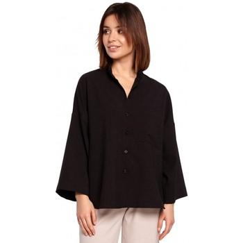 Îmbracaminte Femei Cămăși și Bluze Be B191 Cămașă supradimensionată cu guler - negru