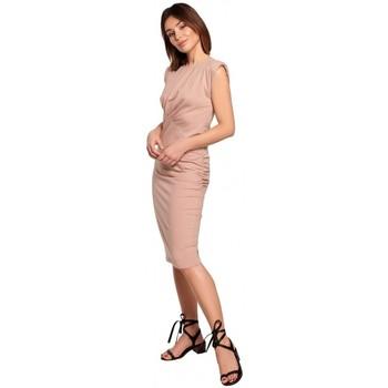 Îmbracaminte Femei Rochii scurte Be B193 Rochie ajustată, cu laterale încrețite - mocca
