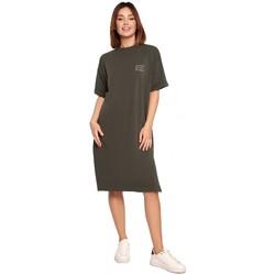 Îmbracaminte Femei Rochii scurte Be B194 Rochie cu tricou cu croială relaxată - verde militar