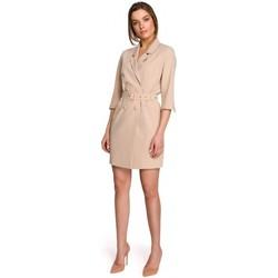 Îmbracaminte Femei Rochii scurte Style S254 Rochie blazer cu centură cu cataramă - negru