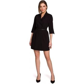 Îmbracaminte Femei Rochii scurte Style S254 Rochie blazer cu centură cu cataramă - verde