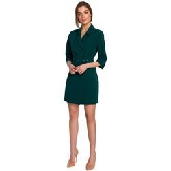 Îmbracaminte Femei Rochii scurte Style S254 Rochie blazer cu centură cu cataramă - albastru regal