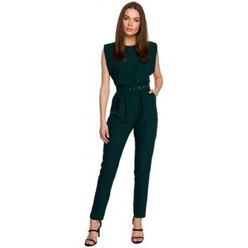 Îmbracaminte Femei Jumpsuit și Salopete Style S259 Salopetă fără mâneci cu umeri căptușite - pudră