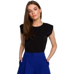 Îmbracaminte Femei Topuri și Bluze Style S260 Bluză fără mâneci cu umeri căptușită - albastru
