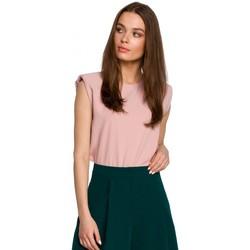 Îmbracaminte Femei Topuri și Bluze Style S260 Bluză fără mâneci cu umeri căptușită - pudră