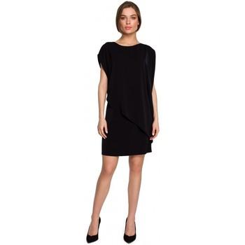Îmbracaminte Femei Rochii scurte Style S262 Rochie în straturi - negru