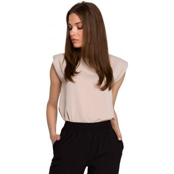 Îmbracaminte Femei Topuri și Bluze Style S260 Bluză fără mâneci cu umeri căptușită - bej