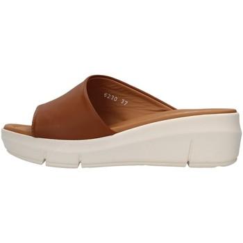 Pantofi Femei Papuci de vară Melluso R80411 BROWN