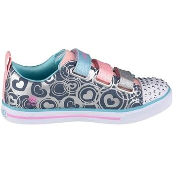 Pantofi Fete Pantofi sport Casual Skechers Sparkle Lite Heartsland Albastru marim