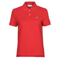Îmbracaminte Femei Tricou Polo mânecă scurtă Lacoste POLO REGULAR FIT PF7839 Roșu