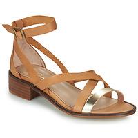 Pantofi Femei Sandale  Casual Attitude COUTIL Camel / Auriu