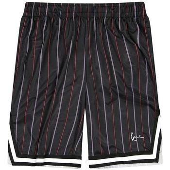 Îmbracaminte Bărbați Pantaloni scurti și Bermuda Karl Kani Short  Small Signature Pinstripe Mesh noir/bleu/rouge